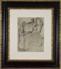 Rebecca Fait Bénir Jacob par Isaac by MARC CHAGALL - Original Artwork, Modernism