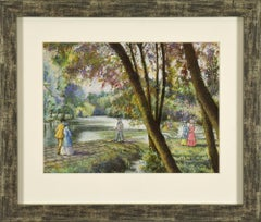Le Barrage du Vey (Clécy) by H. CLAUDE PISSARRO - Post-Impressionist style