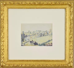 Wootton-under-Edge by Lucien Pissarro - Post-Impressionist watercolour painting