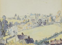 Wootton-under-Edge by LUCIEN PISSARRO - Watercolour, work on paper, art