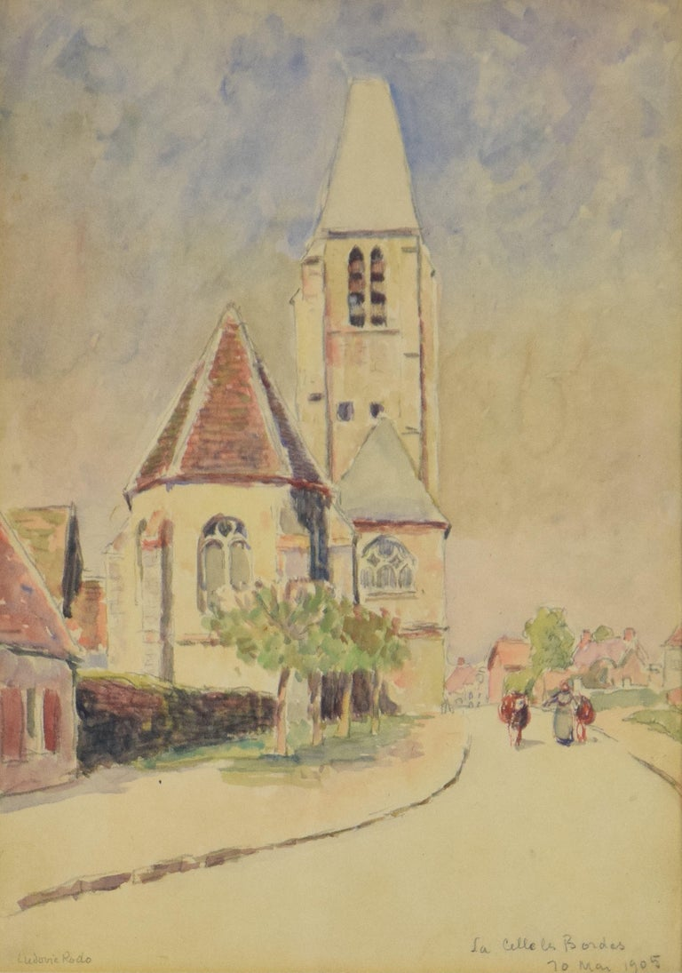 La Celle les Bordes by LUDOVIC-RODO PISSARRO - Post-Impressionist watercolour  - Art by Ludovic-Rodo Pissarro