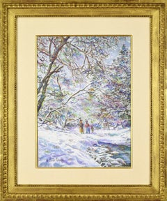 Snow scene by Hughes Claude Pissarro