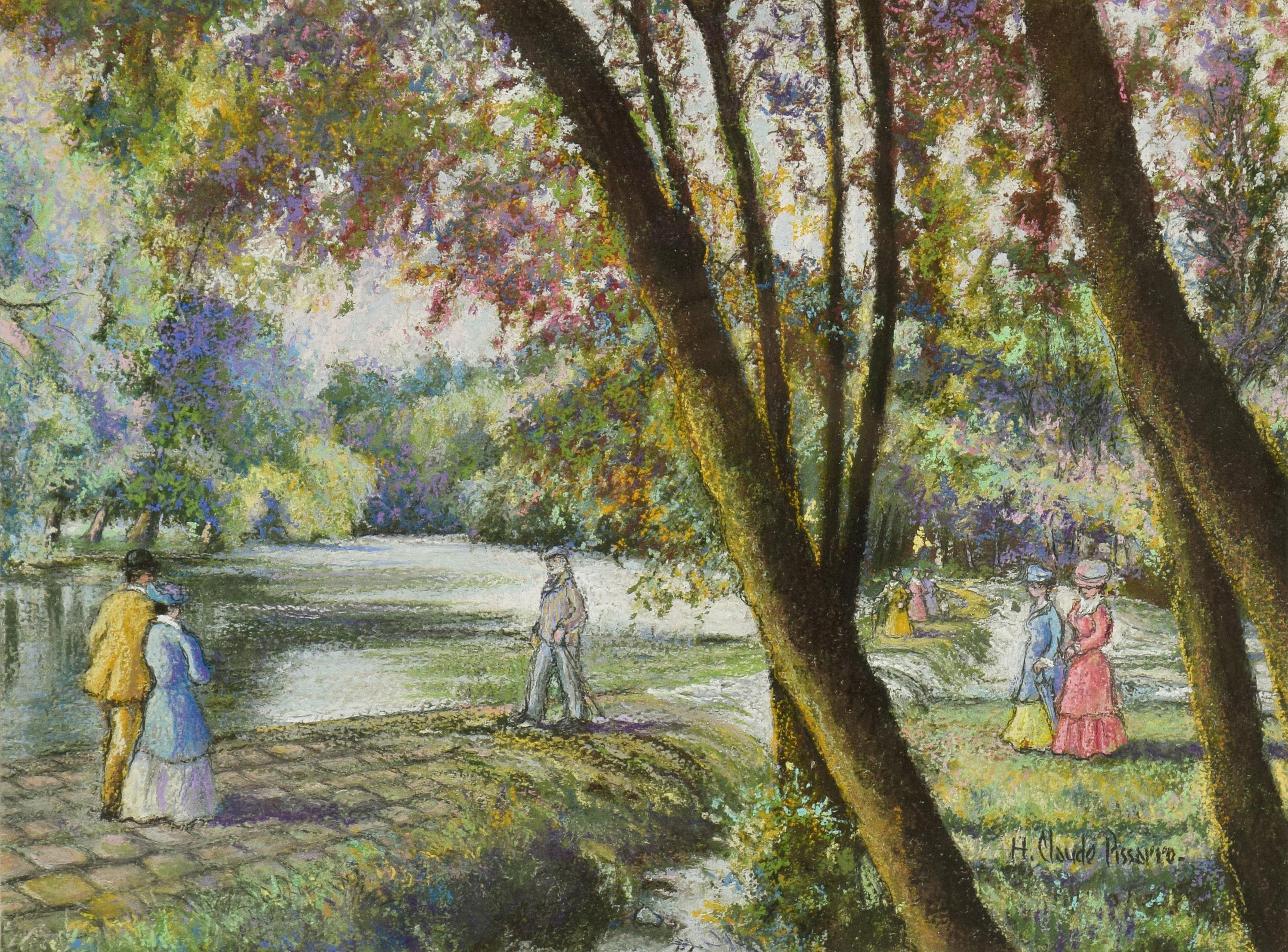 Le Barrage du Vey (Clécy) by H. Claude Pissarro - Post Impressionist style