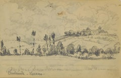 Paysage by Paulémil Pissarro - Drawing