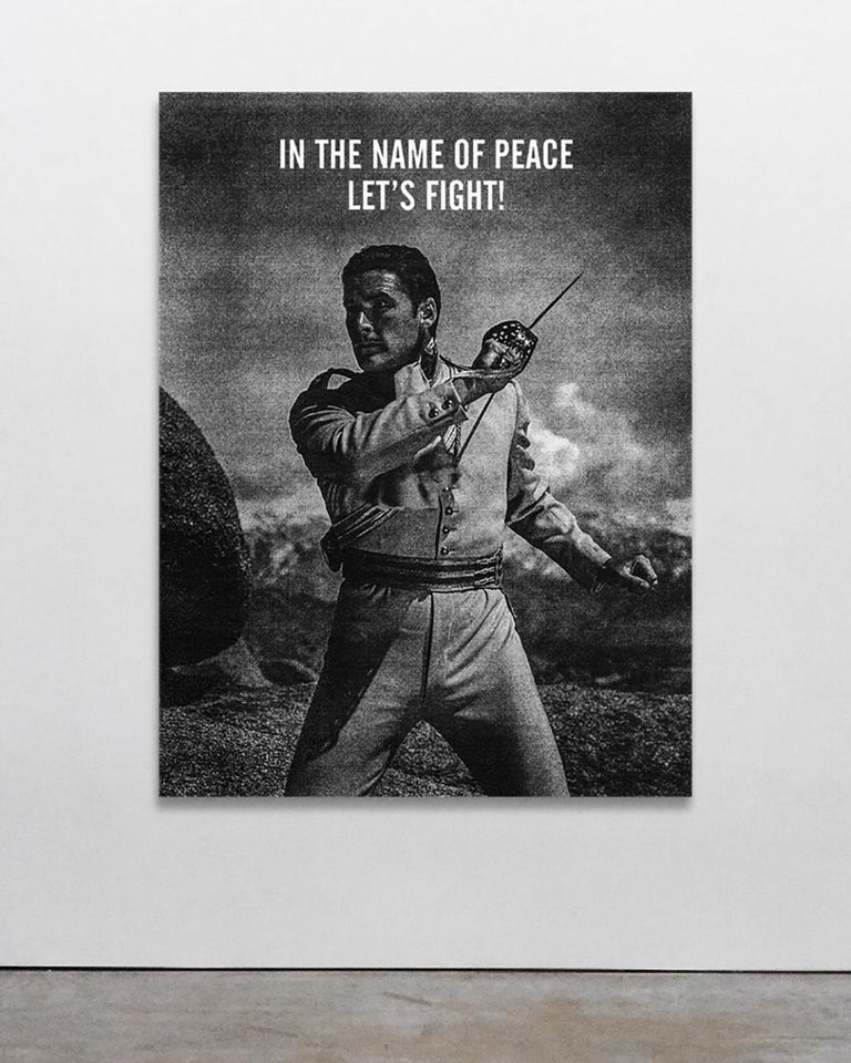 In the Name of Peace, Ryan Mulford - Black &White, Photo Manipulation-Figurative - Contemporary Mixed Media Art by Ryan Mulford