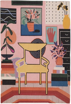Yellow Chair, Mary Finlayson (Pink + Yellow Textile)