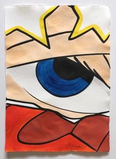 Untitled 27, John CRASH Matos, Street Art Inspired Watercolor (Figurative, Eye)