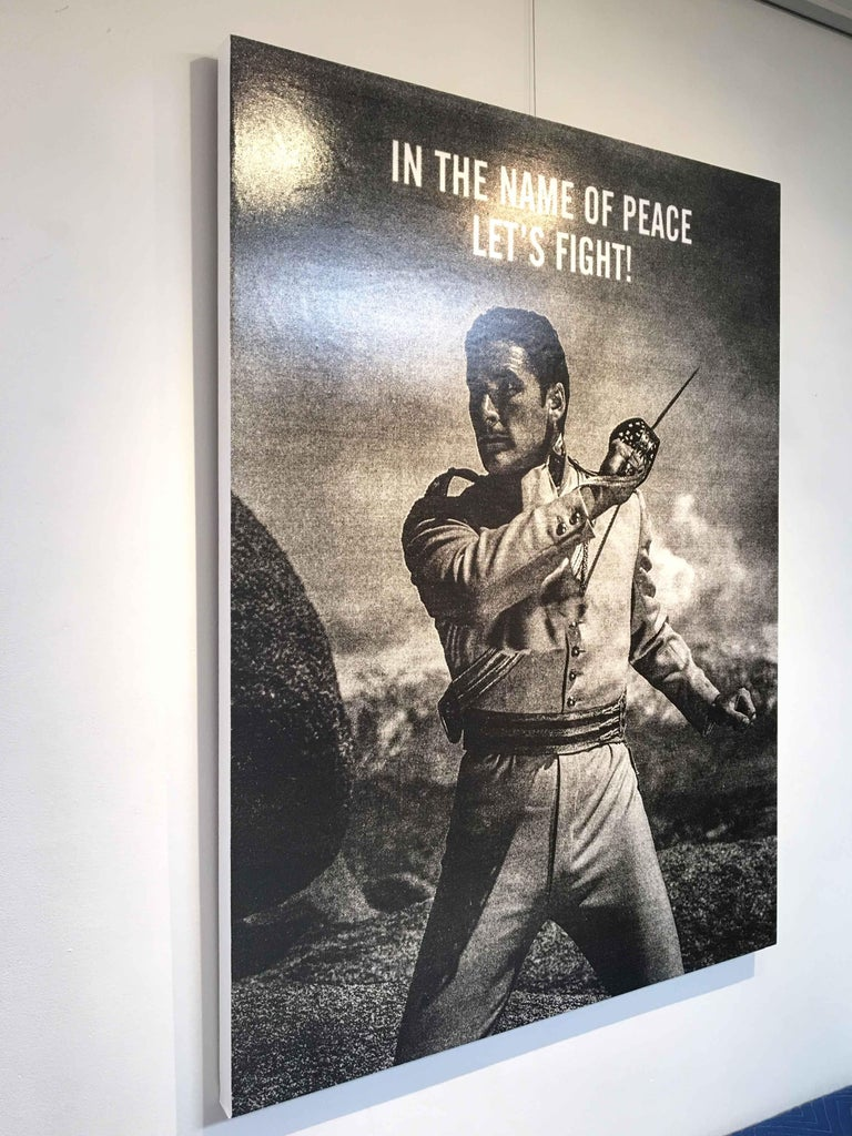 In the Name of Peace, Ryan Mulford - Black &White, Photo Manipulation-Figurative For Sale 1