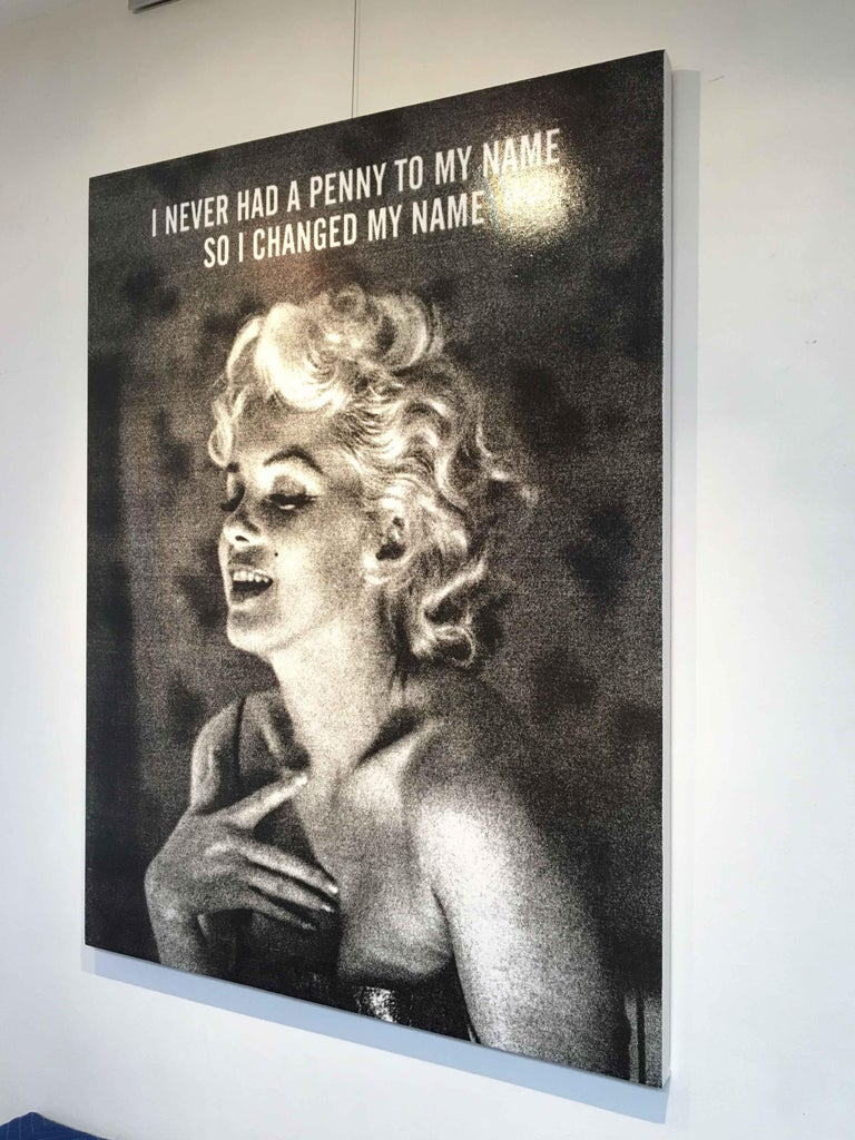 Norma-Marilyn Monroe, Ryan Mulford, Black & White Pop Art, Figurative, Portrait For Sale 1