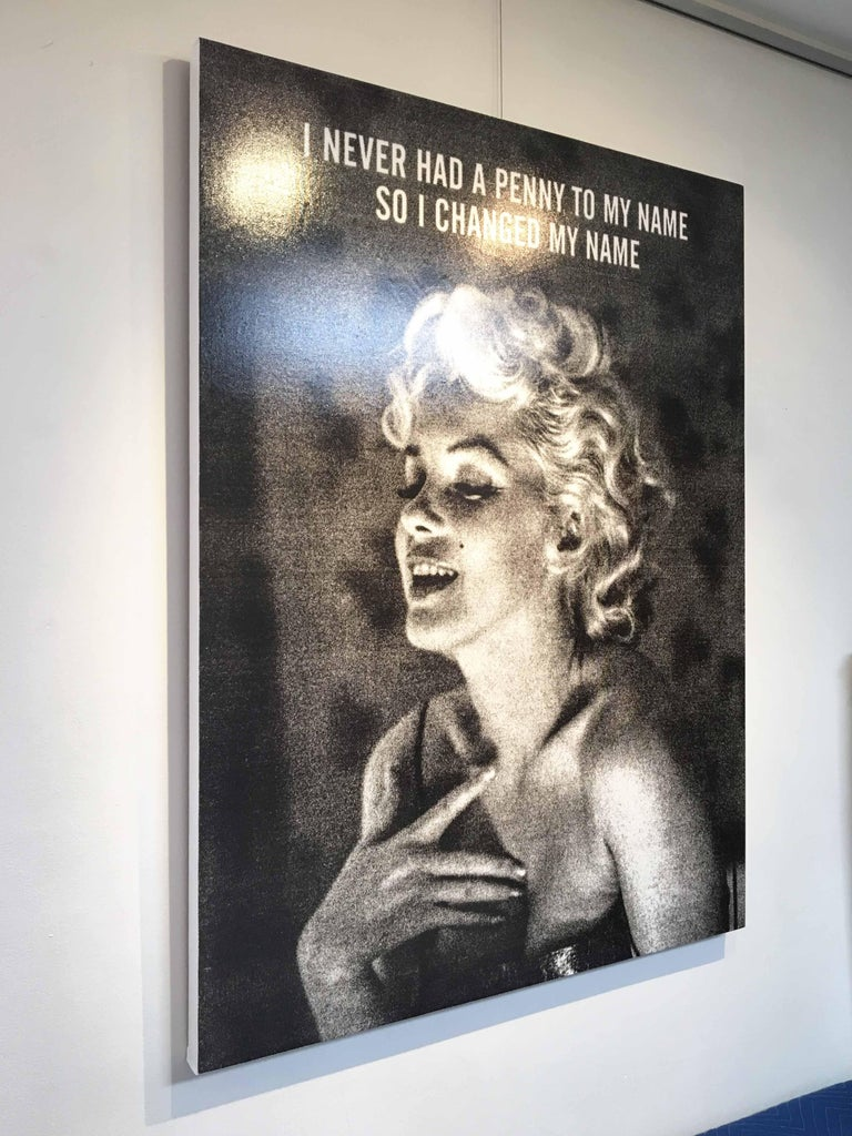 Norma-Marilyn Monroe, Ryan Mulford, Black & White Pop Art, Figurative, Portrait For Sale 2