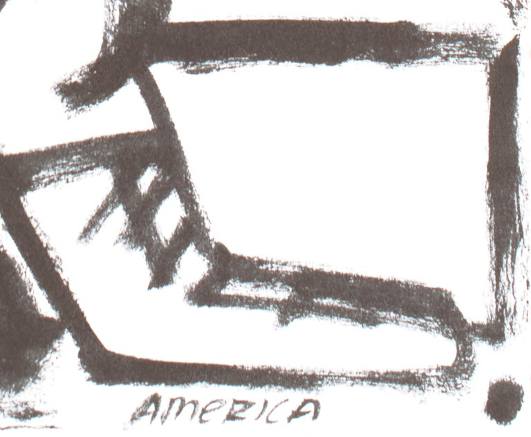 Good Time, America Martin, black & white figurative drawing on cotton paper For Sale 1
