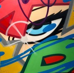 Decade Dance Facade, John Crash Matos, Spray Paint on Canvas, (Graffiti Art)