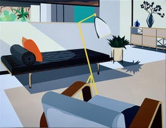 Michael Callas, Ch21. Close Up Browns, Spray Paint & Stencil, Pop Art-Interior