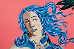 Michael Callas, Venus in Pink, Spray Paint, Pop Art-Figurative, 2020