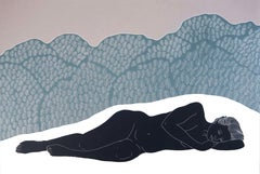 Of Wild Weeds, Ed. 2/6, Ellen Von Wiegand (Nude, Figurative Linocut) Unframed