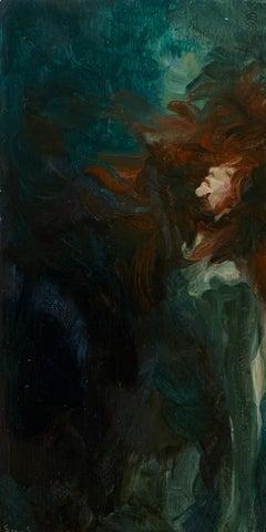 Eau Sombre n°5_Swan Scalabre_2021, Oil on Wood/Wooden Frame_Portrait/Figurative
