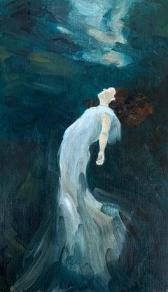 Eau Sombre n°3_Swan Scalabre_2021, Oil on Wood/Wooden Frame_Portrait/Figurative