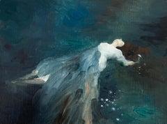 Eau Sombre n°2_Swan Scalabre_2021, Oil on Wood/Wooden Frame_Portrait/Figurative