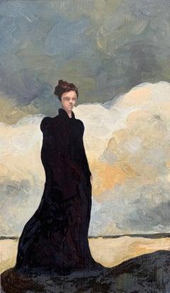 Crepuscule n°1_Swan Scalabre_Oil/Wood/Wooden Frame_Female Portrait/Figurative