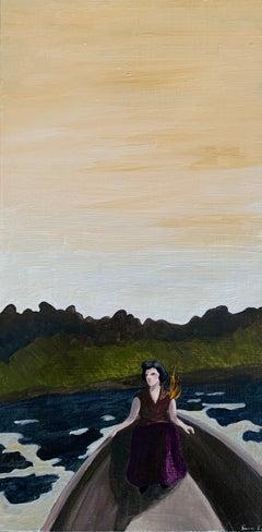 Incandescentes-Solange_Swan Scalabre_Oil/Wood/Framed_Female Portrait/Figurative