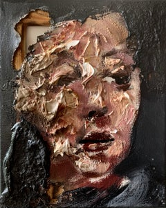 Disintegration_Martin Adalian, Acrylic/Oil/Tar_Figurative/Portrait_Distressed