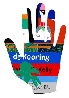 deKooning Book w. Girard Doll_Mary Finlayson_Vinyl/Gouache/Maple- Wall Sculpture
