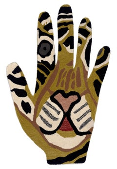 Tiger Hand_2021_Mary Finlayson_Cotton Hand Dyed/Hand Woven Textile_Rug/Tapestry