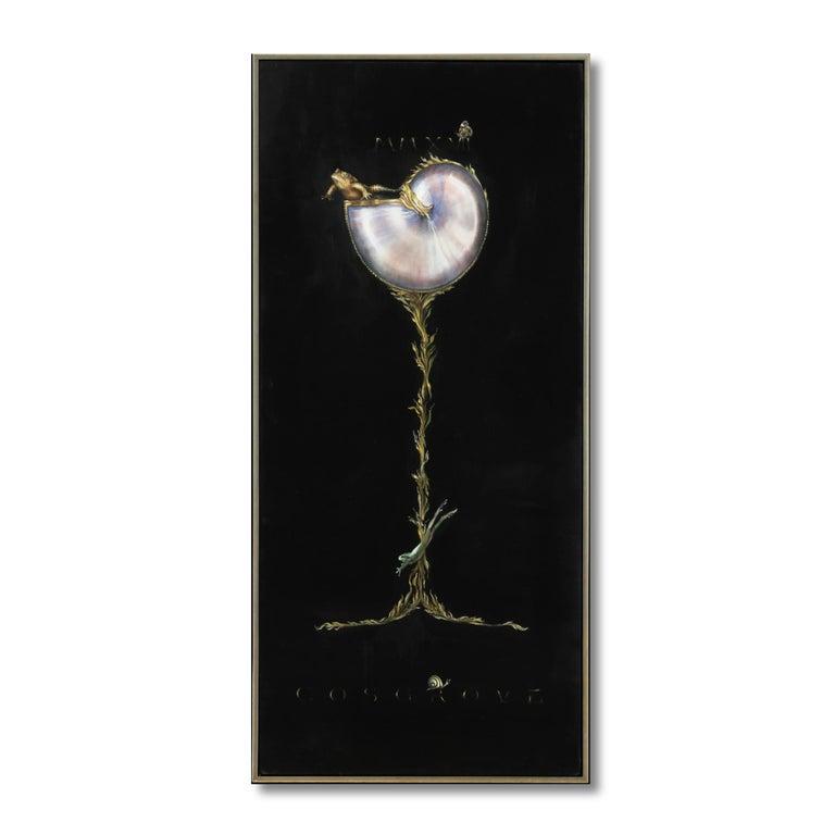 Linda Cosgrove Figurative Painting - CHAMBERED NAUTILIS WITH FROG II