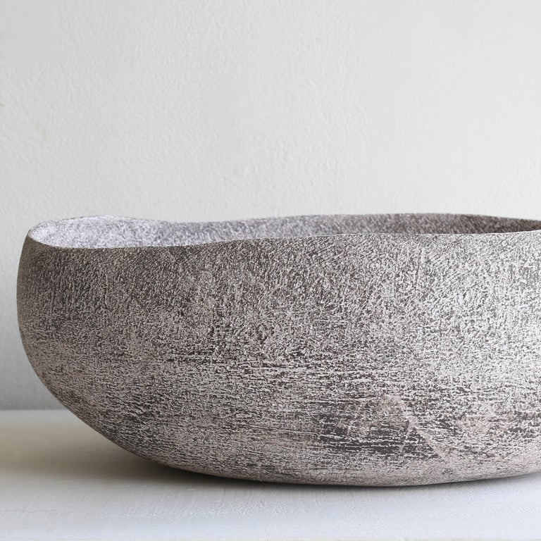 Caria 2 -Lithic Collection - Gray Abstract Sculpture by Yasha Butler