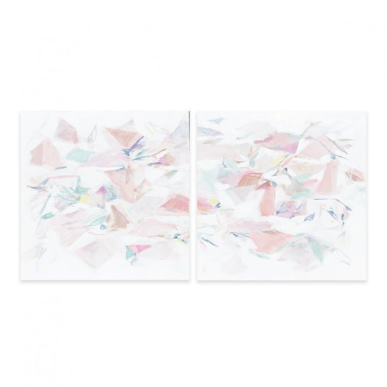 Taelor Fisher Abstract Painting - FALLING IV (DIPTYCH)