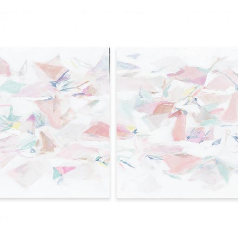 FALLING IV (DIPTYCH) - Painting by Taelor Fisher