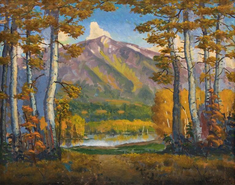 Mt. Sopris (Rocky Mountain Landscape Near Aspen, Colorado) - Painting by Harold Skene