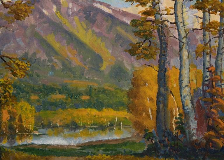 Mt. Sopris (Colorado) - Brown Landscape Painting by Harold Skene