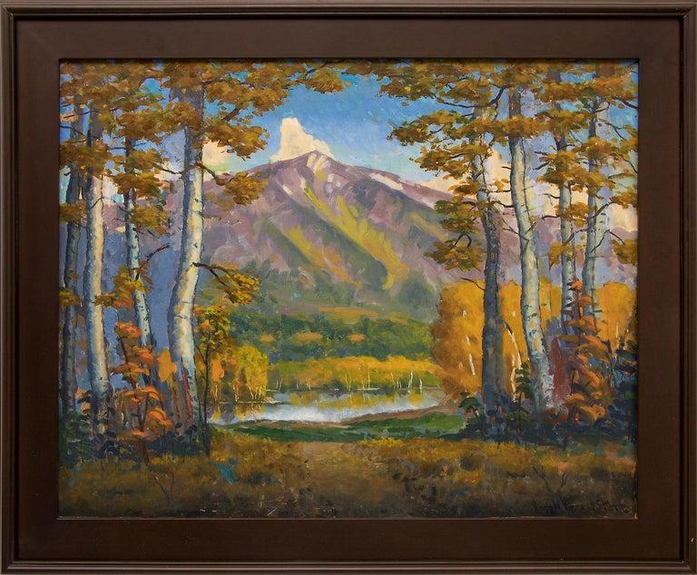 Harold Skene Landscape Painting - Mt. Sopris (Rocky Mountain Landscape Near Aspen, Colorado)