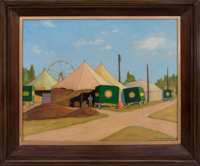 Francis Drexel Smith  Figurative Painting - The Wortham Shows (Circus)