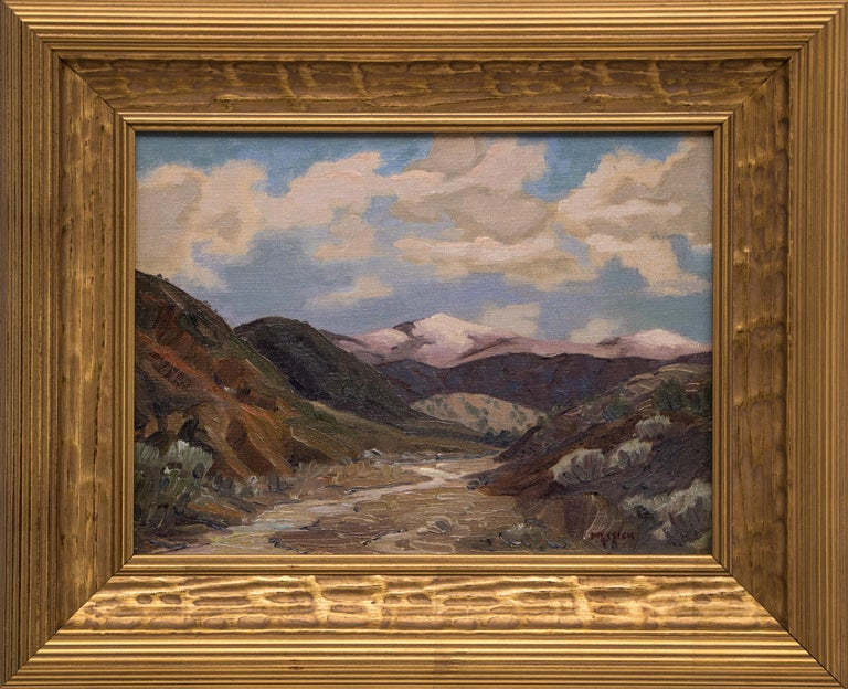 Untitled (Western Mountain Landscape) - Painting by Turner Messick