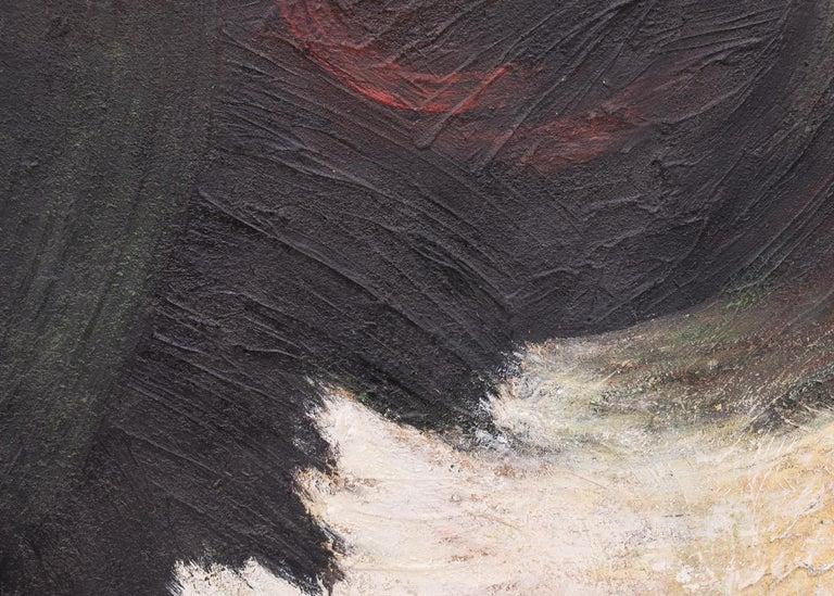 Original mid-century modern era abstract painting by Denver woman artist, Ruth Todd (1909-2006).