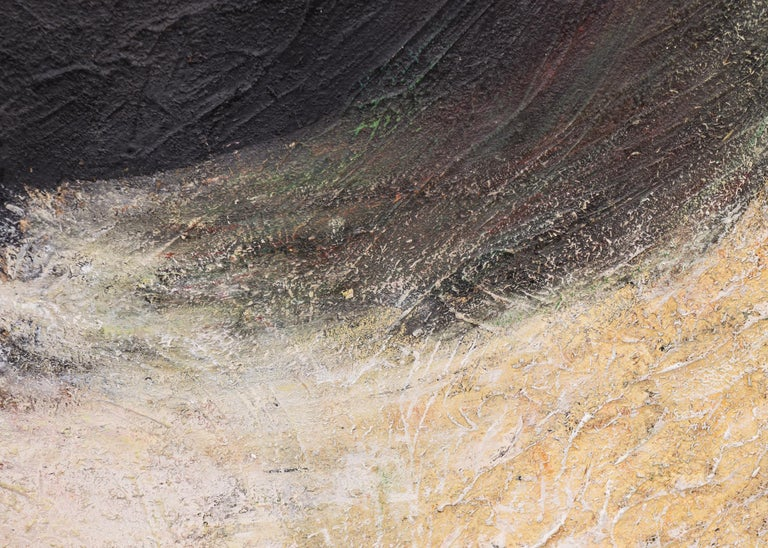 The Intruding Void (Universal Landscape Series) - Black Abstract Painting by Ruth Todd