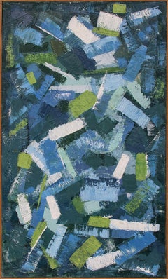 Confetti (Abstract in Blue, Green and White)