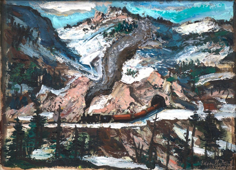 Untitled (Mountain Landscape with Snow) - Painting by Edgar Britton