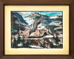 Untitled (Mountain Landscape with Snow)