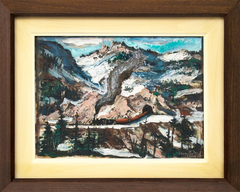 Edgar Britton Landscape Painting - Untitled (Mountain Landscape with Snow)