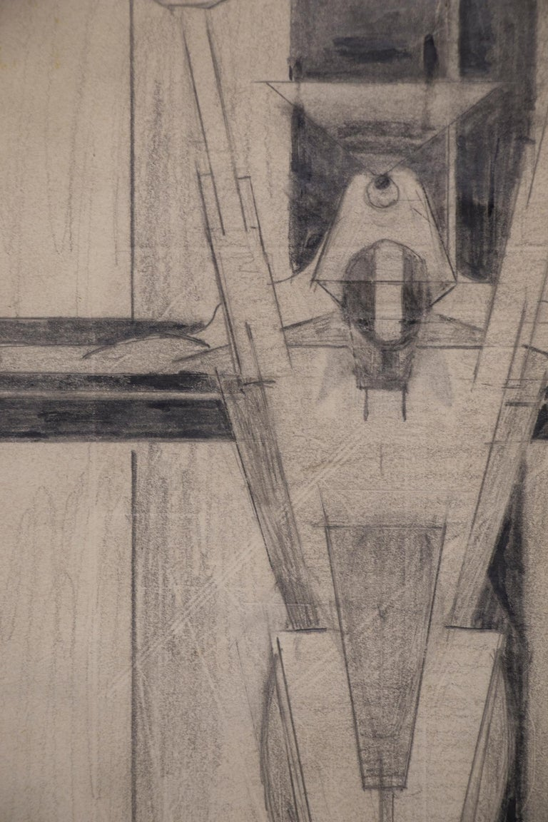Untitled Figure on a Cross (Futurism/Cubism) For Sale 1