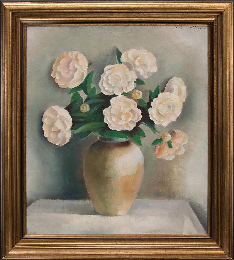 Paul Lantz Interior Painting - White Peonies (Still Life)