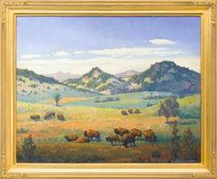 Buffalo (Colorado Mountain Landscape and Grasslands)