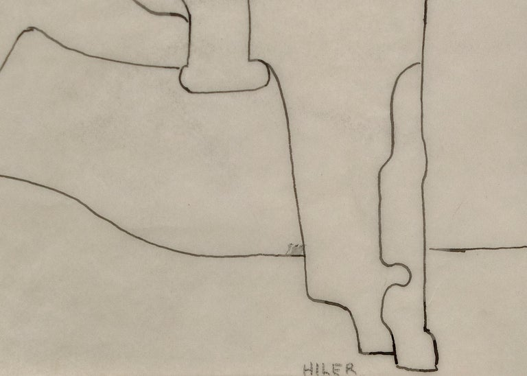 Pinto (Modernist Drawing, Native American on Horseback) - American Modern Art by Hilaire Hiler