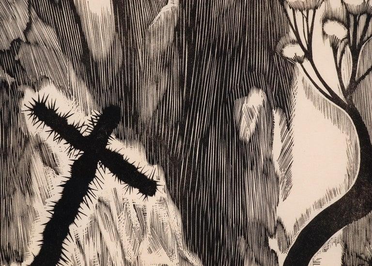 Howard Cook original signed vintage 1927 woodcut (woodblock) print,