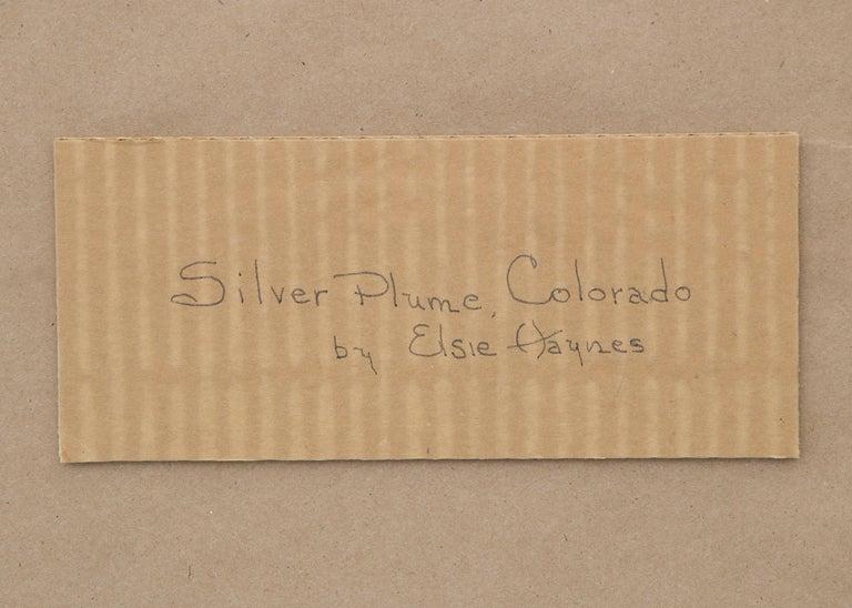 Silver Plume, Colorado, Mountain Landscape with River, Houses & Aspens, Autumn For Sale 3