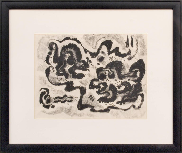 Untitled (Abstract Calligraphic Composition) - Art by Emil Bisttram