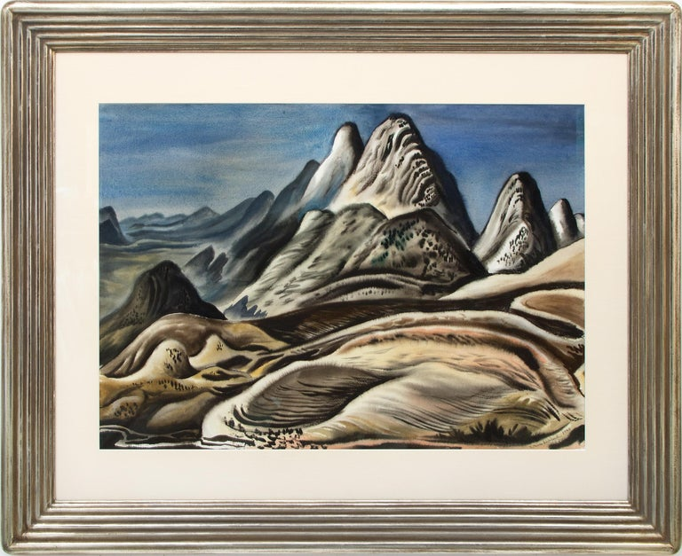 Vance Kirkland Landscape Painting - Colorado Landscape (View from Red Rocks looking south toward Soda Lakes)